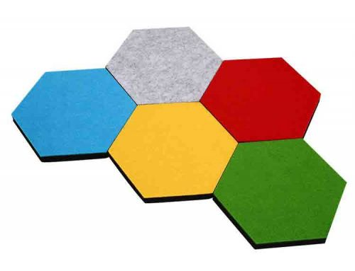 painéis de som hexagonal