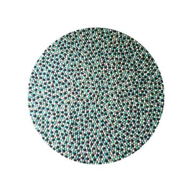 wool felt ball rug 2
