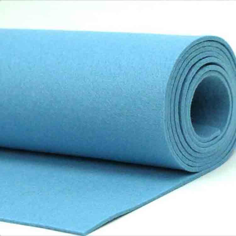 blue felt fabric 1