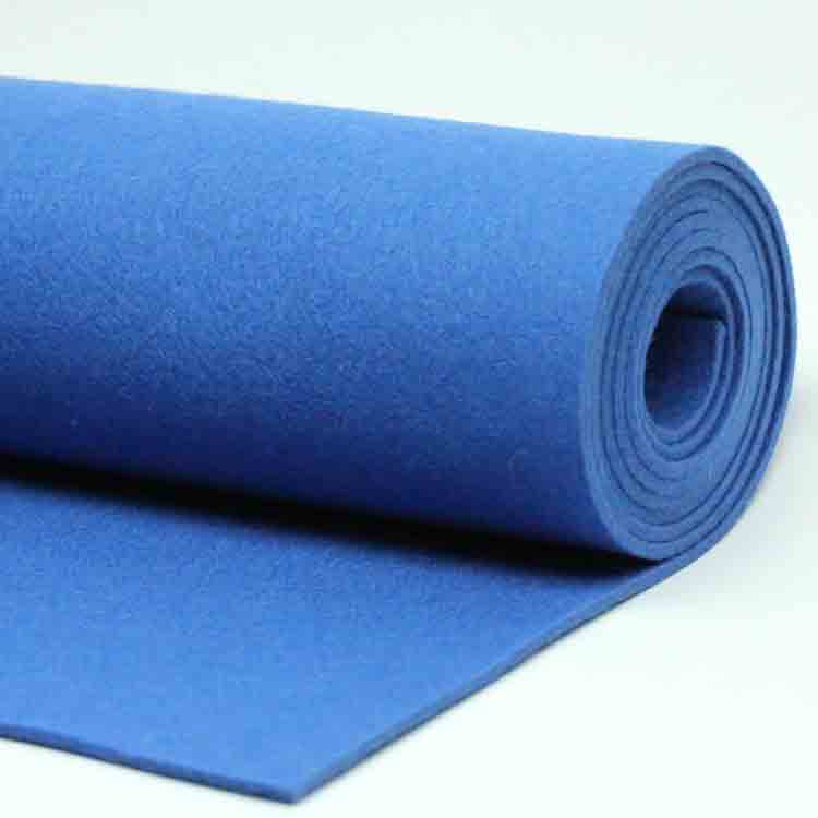 blue felt fabric 3