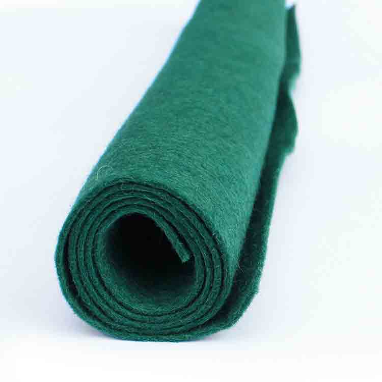 green felt fabric
