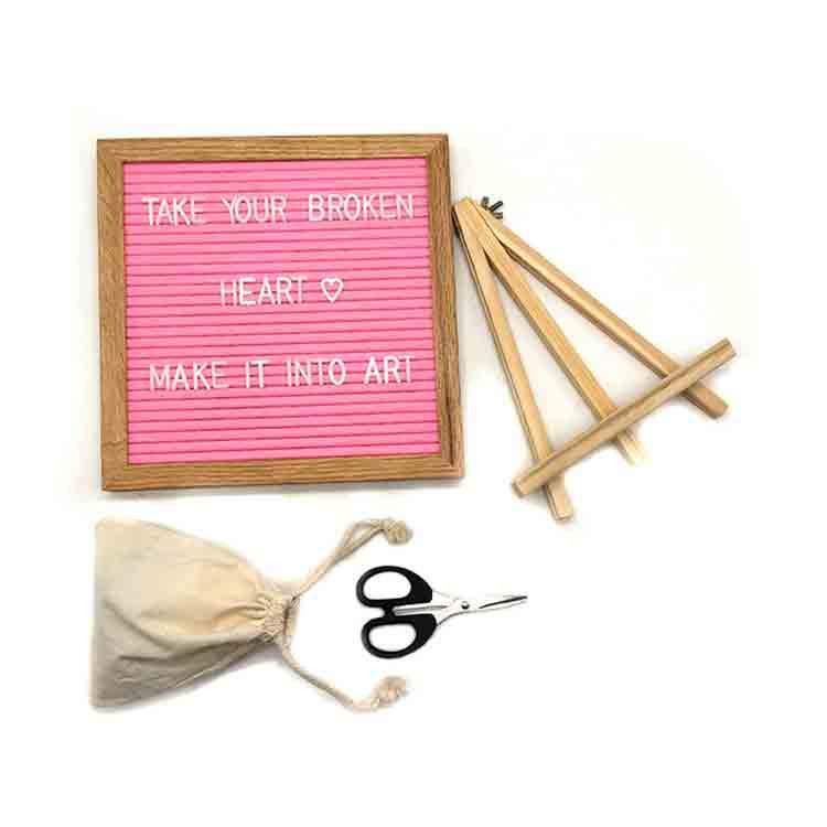 pink felt board