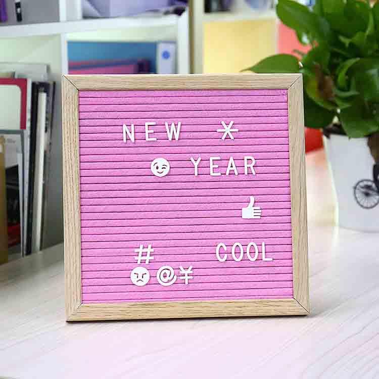 pink felt letter board