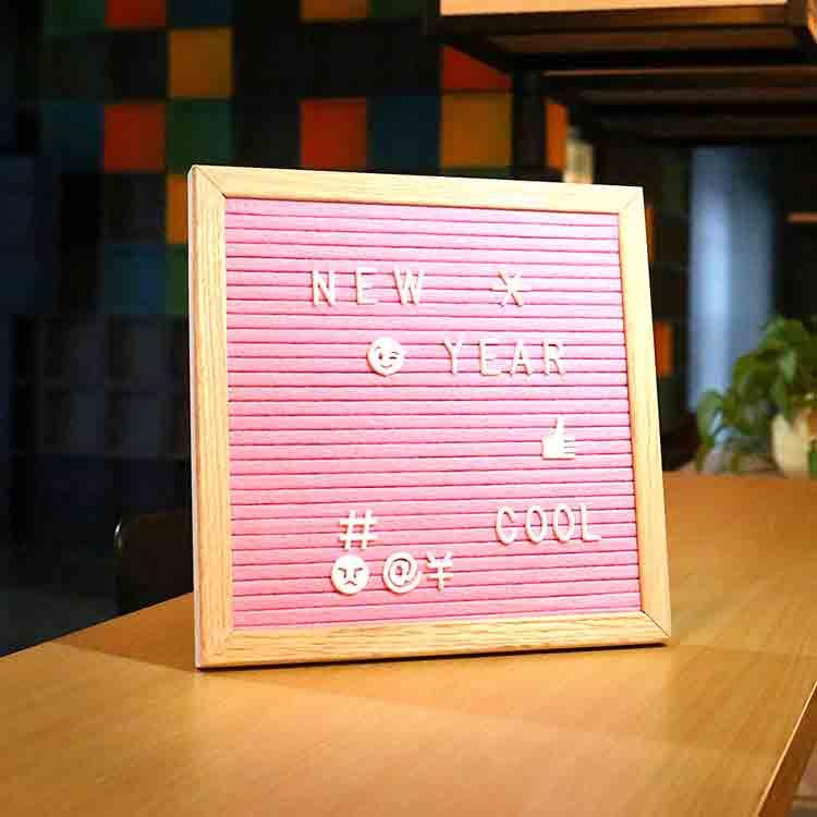 ružová plsťová tabuľa 2