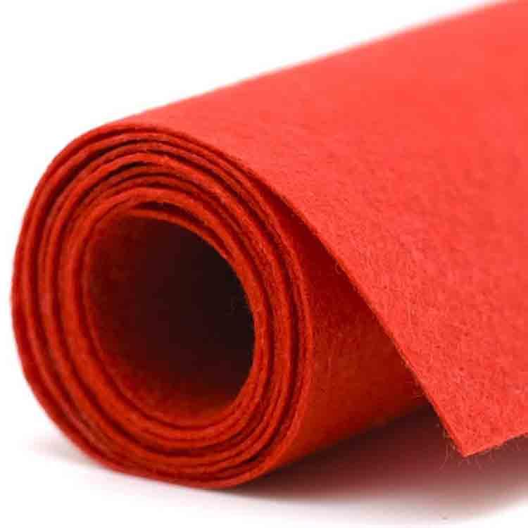 red felt fabric