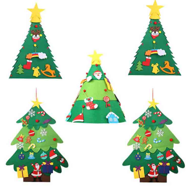 wall hanging felt christmas tree 2