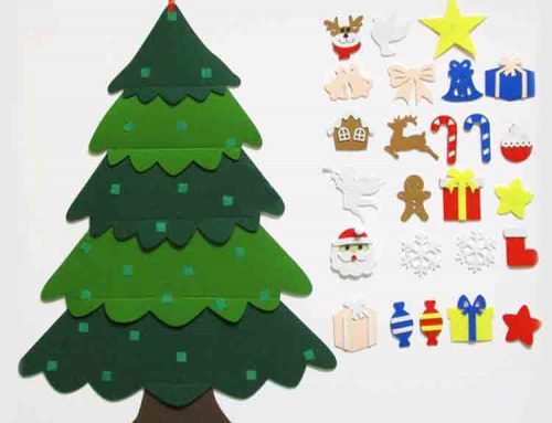 wall hanging felt christmas tree