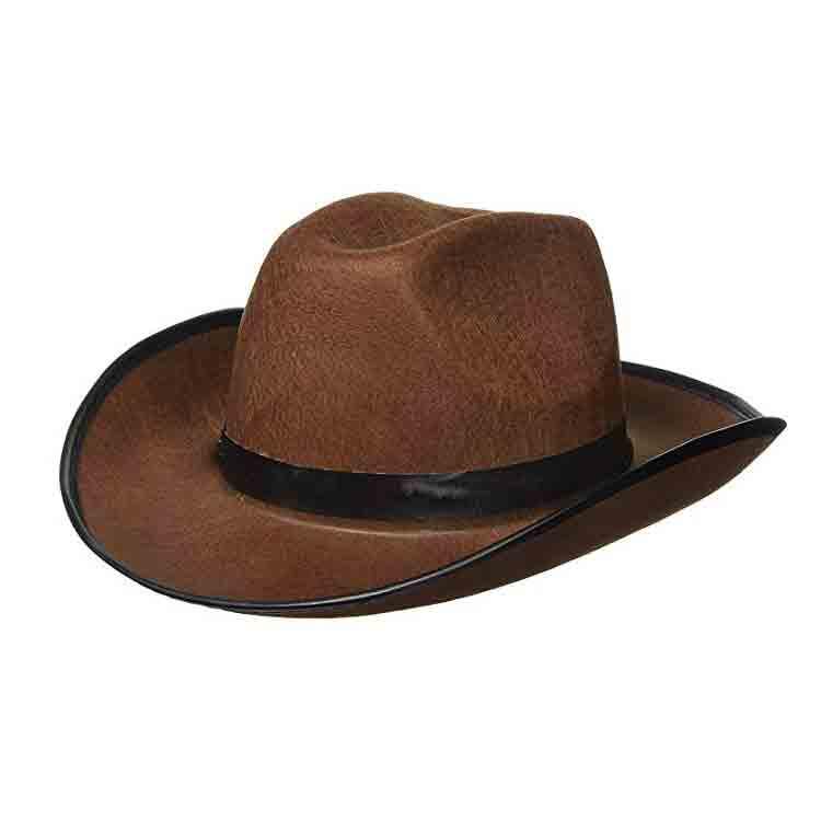 brown felt cowboy hat 1