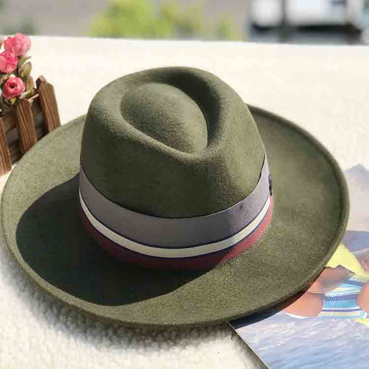 green felt hat 5
