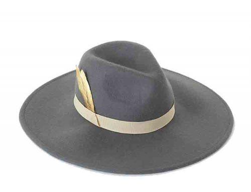 grey felt cowboy hat