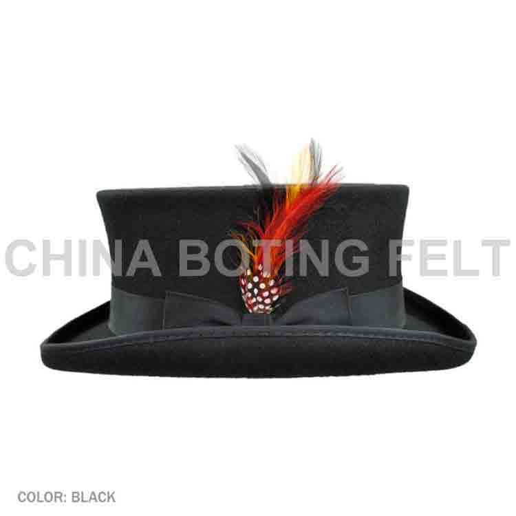 mens black felt cowboy hat 1