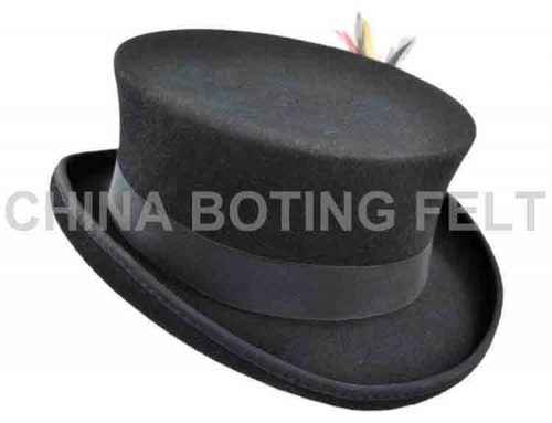 mens black felt cowboy hat
