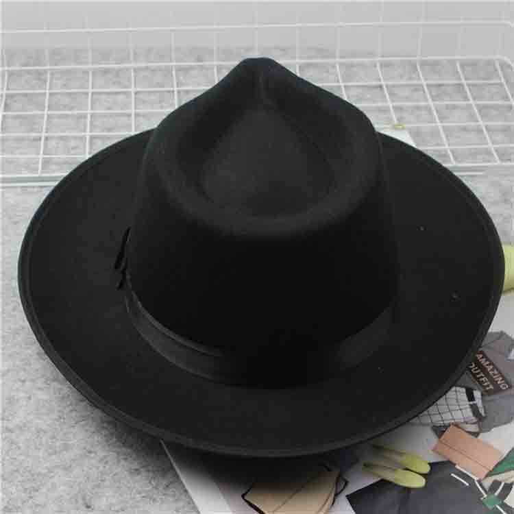 men's wool felt fedora hats