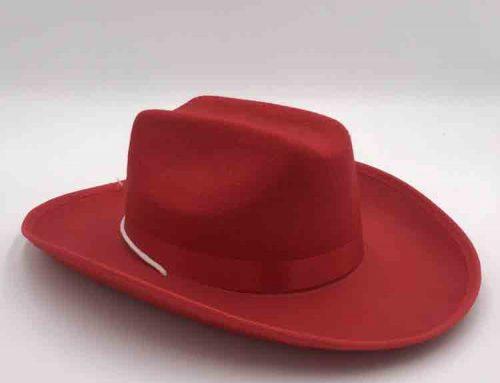 red felt cowboy hat