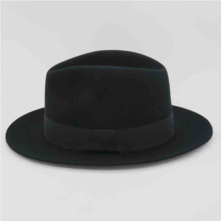 wide brim black felt hat 2