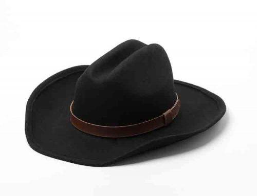 wide brim felt cowboy hat