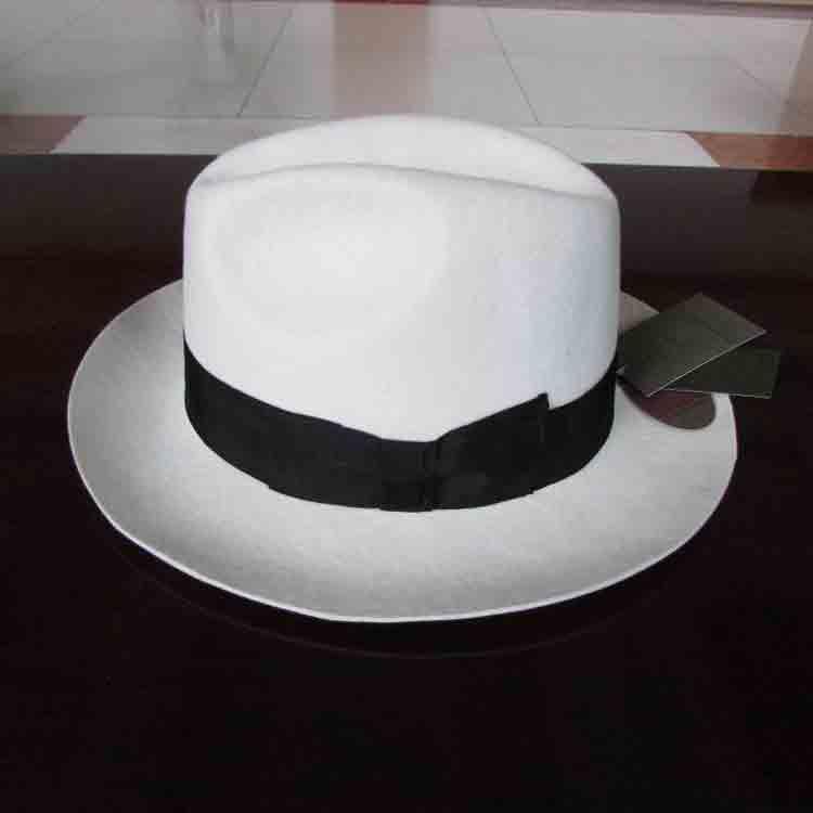 wide brim white felt hat 1