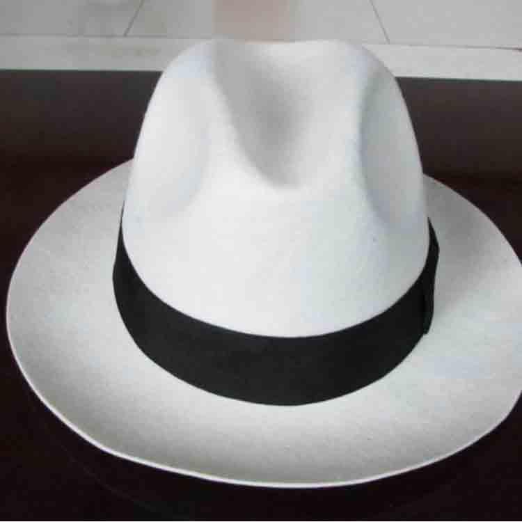 wide brim white felt hat 2